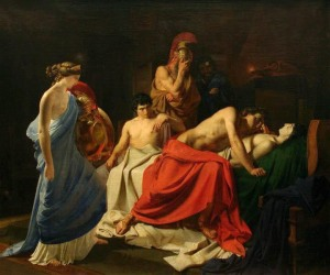 Achilles mourns for Patroclus