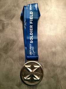 The finisher medal.