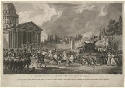 Simon_Charles_Miger,_Translation_de_Voltaire_au_Panthéon_Français,_1817