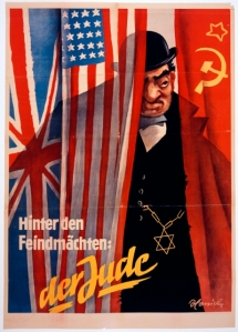 Nazi Anti-Semitic Propaganda poster found in search.